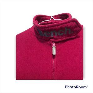 Girl's Size 10 BENCH Fleece Seeater Zipper Thumb holes Front Pockets Cozy Pink
